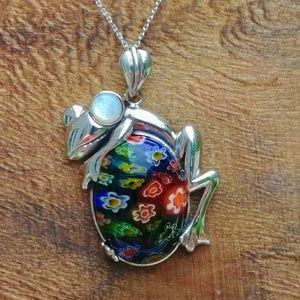 Jewelry - Italian Murano Glass Frog Pendent